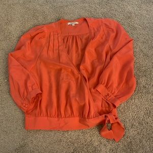 Madewell silk wrap top blouse small